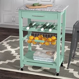rolling kitchen carts countertops islands you ll love wayfair quickview