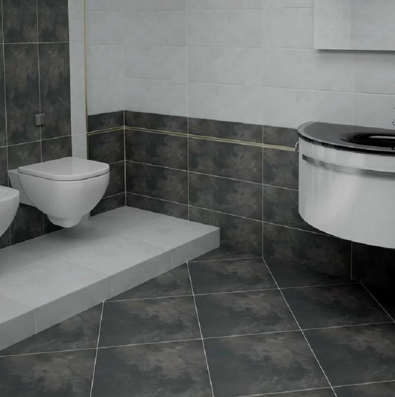 cosmopolitan 13 x 6 porcelain bullnose tile trim in charcoal