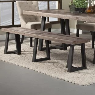 bench for kitchen table rugs 65 inch wood wayfair t j
