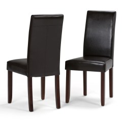 Affordable Upholstered Dining Chairs Lawn Chair Covers Amazon Simpli Home Acadian Reviews Wayfair
