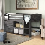 Birch Lane Evan Twin Low Loft Bed With Drawers Reviews
