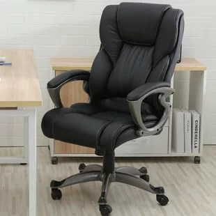 leather executive office chair antique wood rocking styles chairs you ll love wayfair quickview