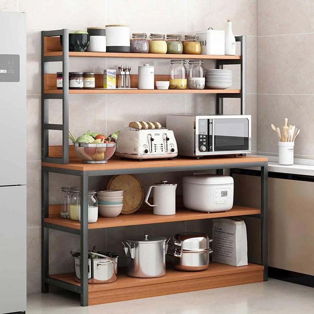 5 tiers kitchen baker s rack utility storage shelf microwave stand cart kitchen organizer rack