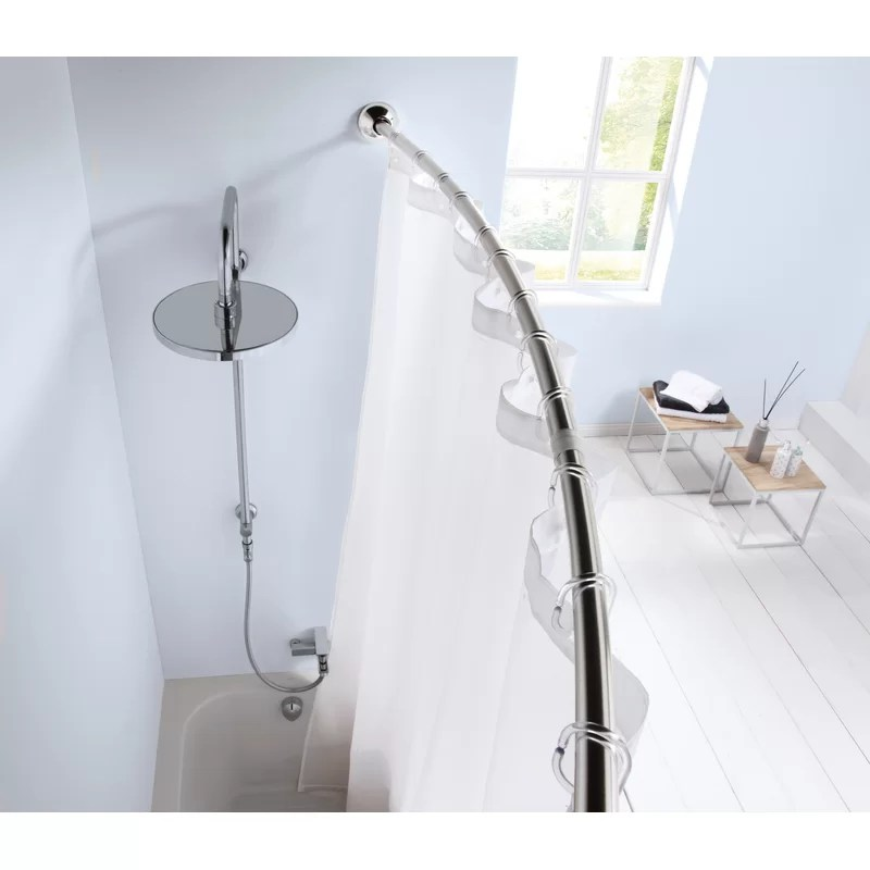cullerton 125cm curved fixed shower curtain rail