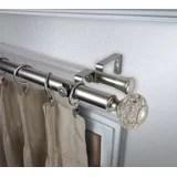 240 inch double curtain rod wayfair