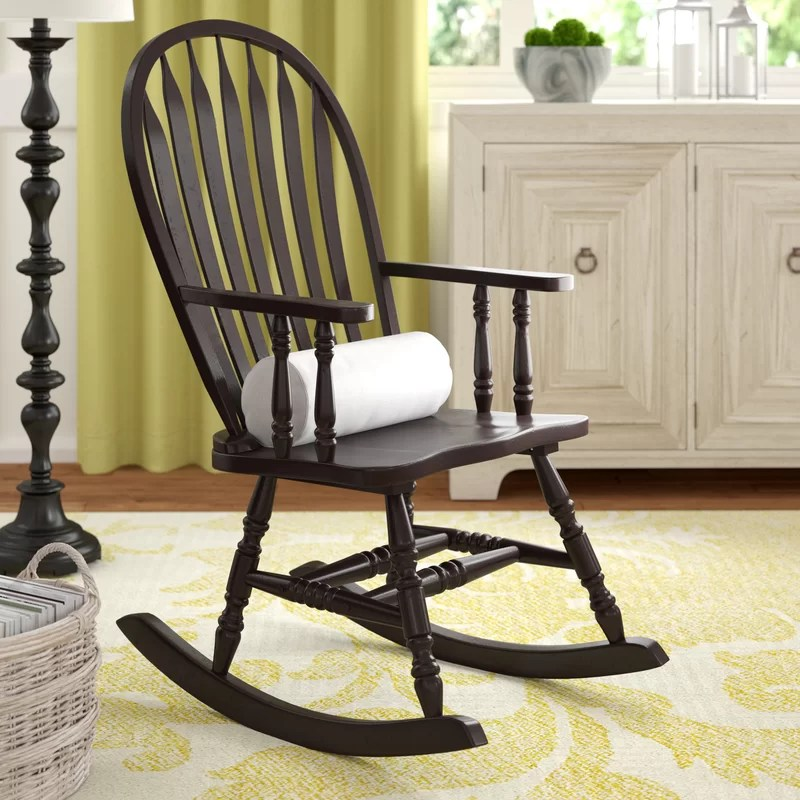 arm chair rocker red sashes in bulk darby home co silverman rocking with arms reviews wayfair