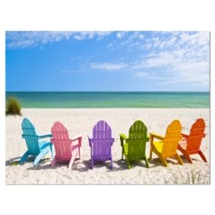 Canvas Beach Chair Most Expensive Massage In The World Wood And Chairs Wayfair Seashore Adirondack Photograph