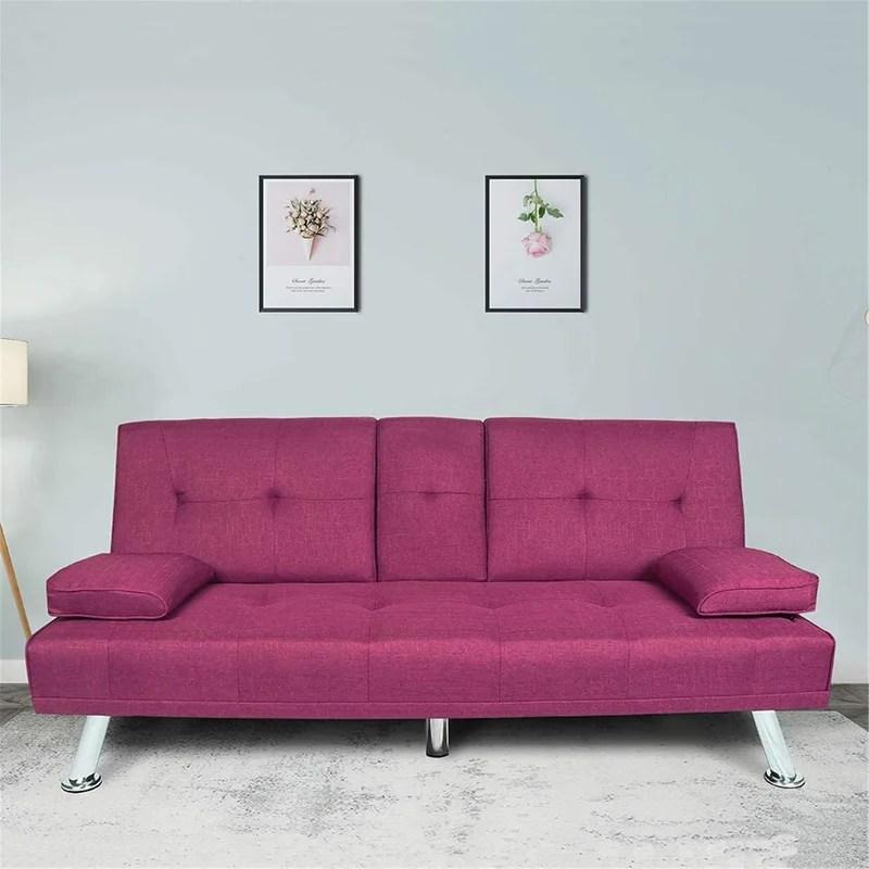 66 2 pillow top arm sofa bed