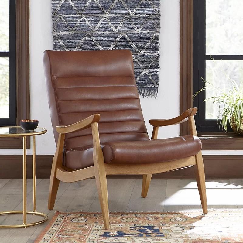 DwellStudio Hans Leather Armchair  Reviews  Wayfair
