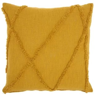 modern yellow and gold throw pillows