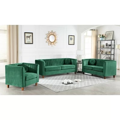 Apartment Size Green Living Room Sets You Ll Love In 2019