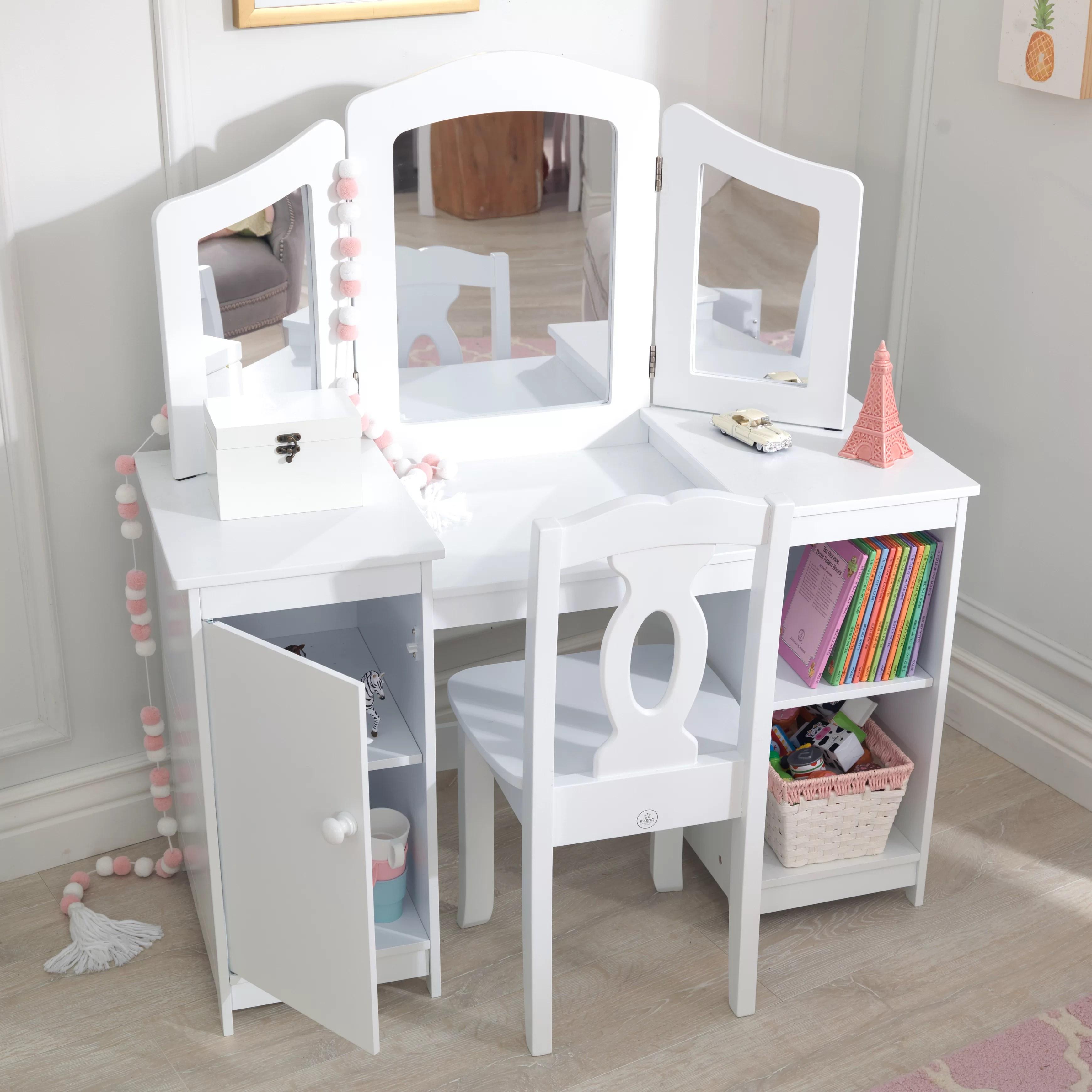 deluxe 2 piece vanity set with mirror