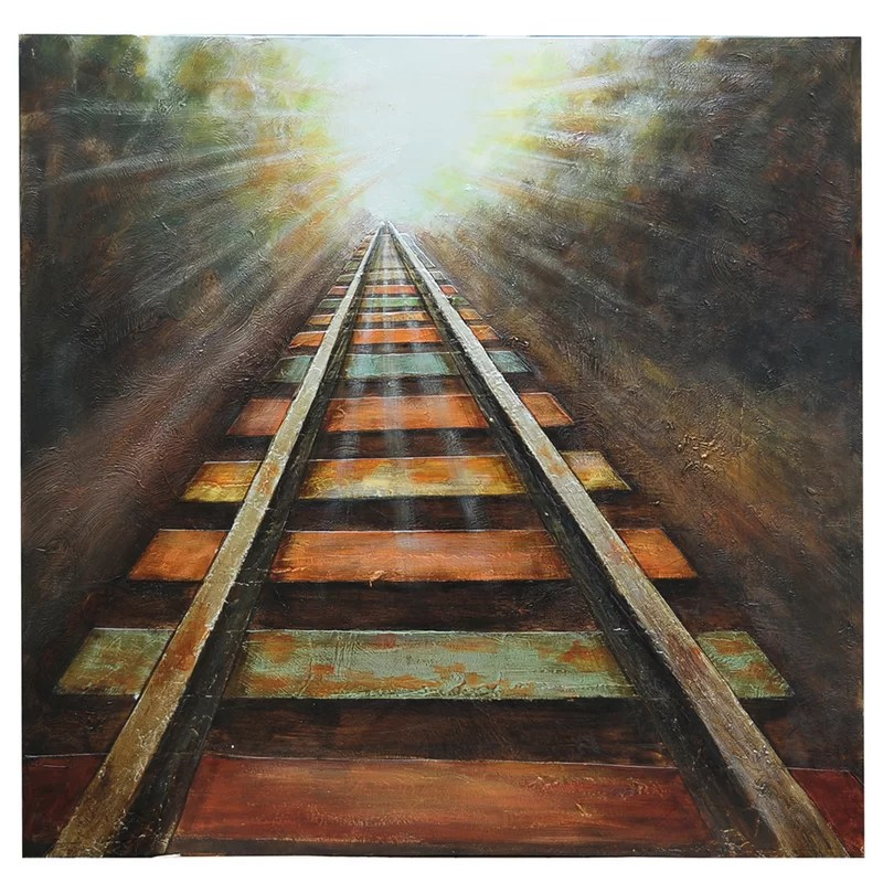 End of The Line Painting Print on Canvas