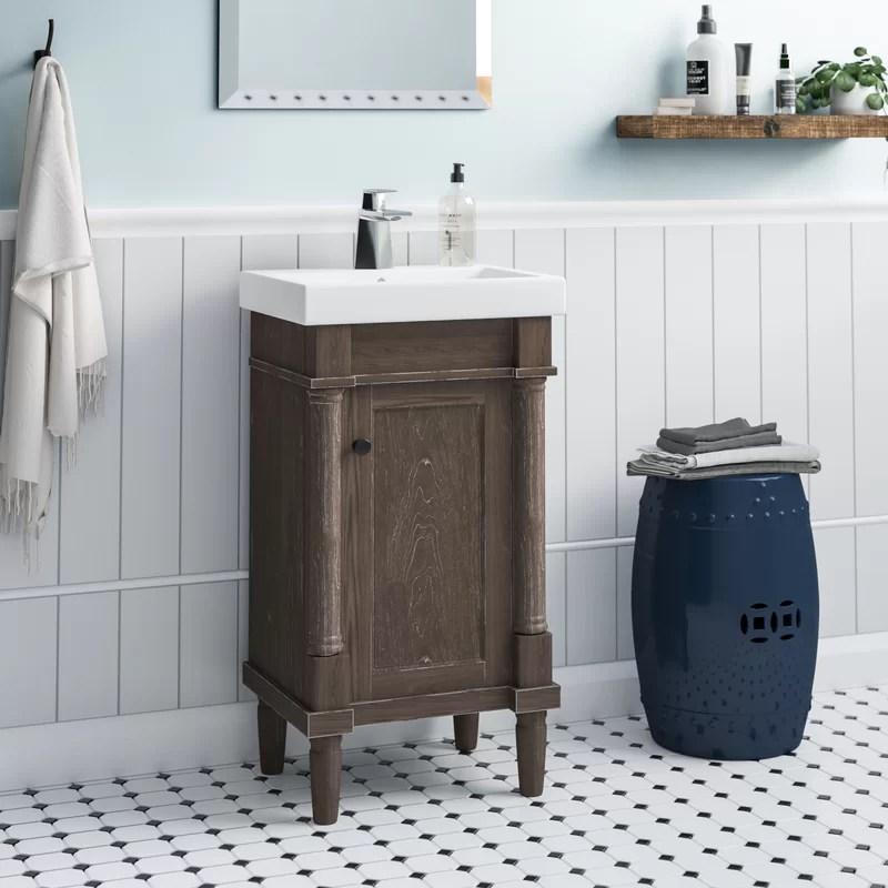 malena 18 single sink bathroom vanity set