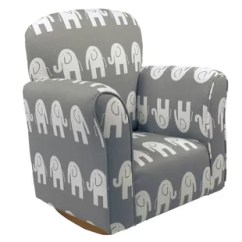 Rocking Chairs For Children White Desk Chair With Arms Kids You Ll Love Wayfair Starla Child Elephant Cotton