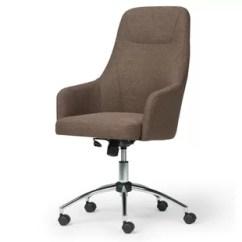 Swivel Chair No Castors Cream Lounge Without Wheels Wayfair Jules Office