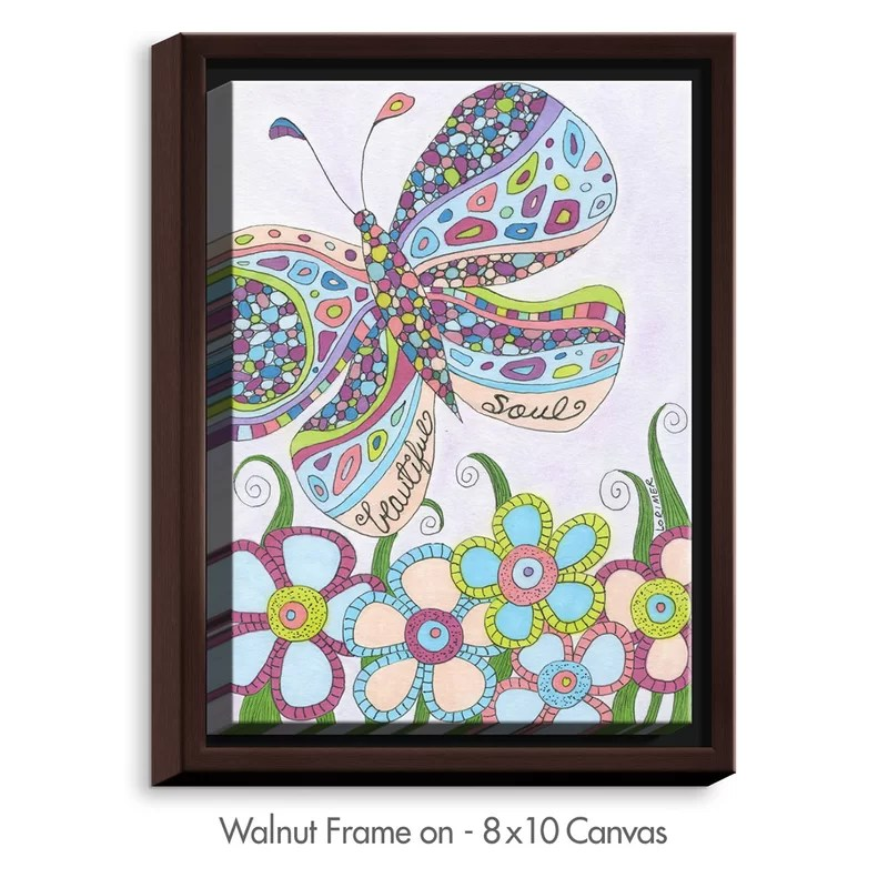 Beautiful Soul by Valerie Lorimer Graphic Art on Wrapped Framed Canvas Size: 15.75 H x 12.75 W x 1.75 D Frame Color: Walnut