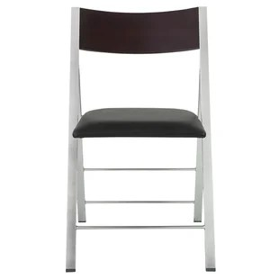 folding chair with cushion hydraulic accessories chairs wayfair wood padded set of 12