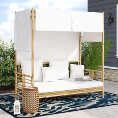 Aubrie Canopy Daybed with Pillows