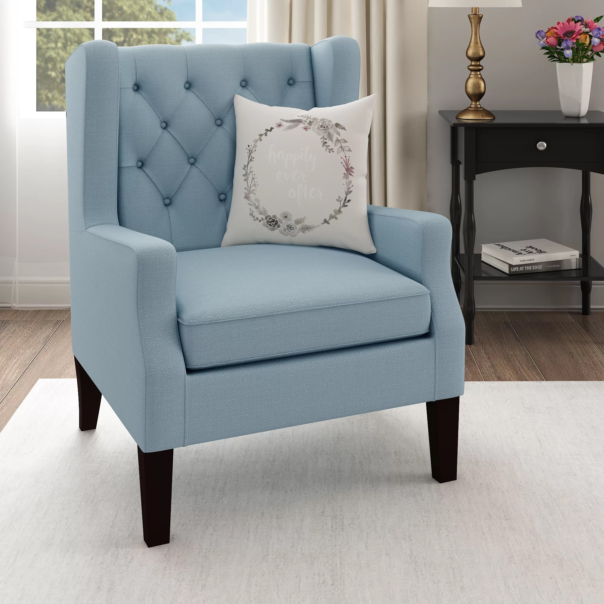 Teal Wingback Chair Allis Wingback Chair