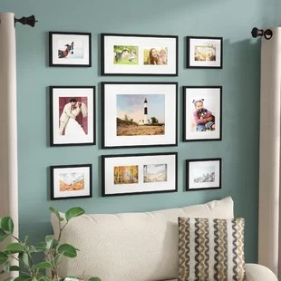 wall frames for living room target rugs picture you ll love wayfair ca boulware 9 piece wood frame set