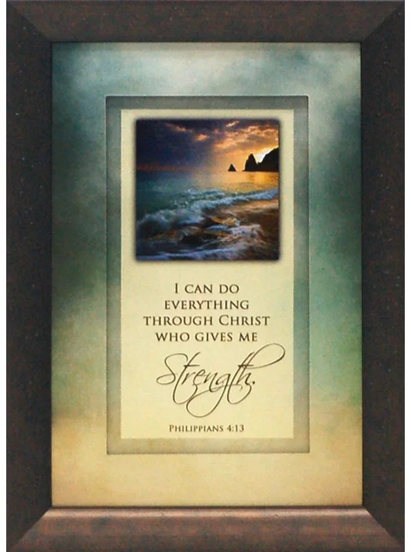 I Can Do Everything Through Christ Who Gives Me Strength by Brett West Framed Graphic Art