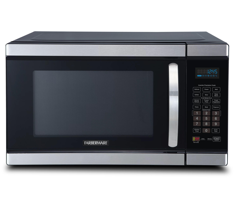 farberware 20 2 1 1 cubic feet cu ft 1100 watt watt countertop microwave with sensor cooking