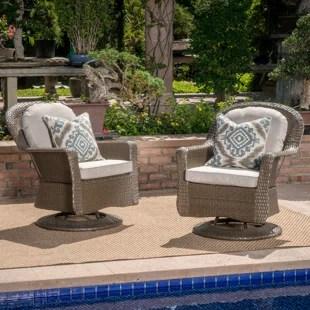 wicker swivel glider patio chairs off 50