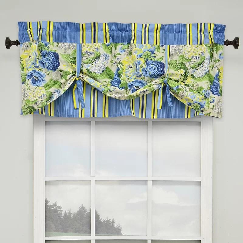 floral flourish 52 lined window curtain valance