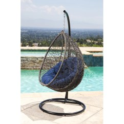 Outdoor Wicker Swing Chair Ak Gaming Bungalow Rose Ostrowski With Stand Wayfair