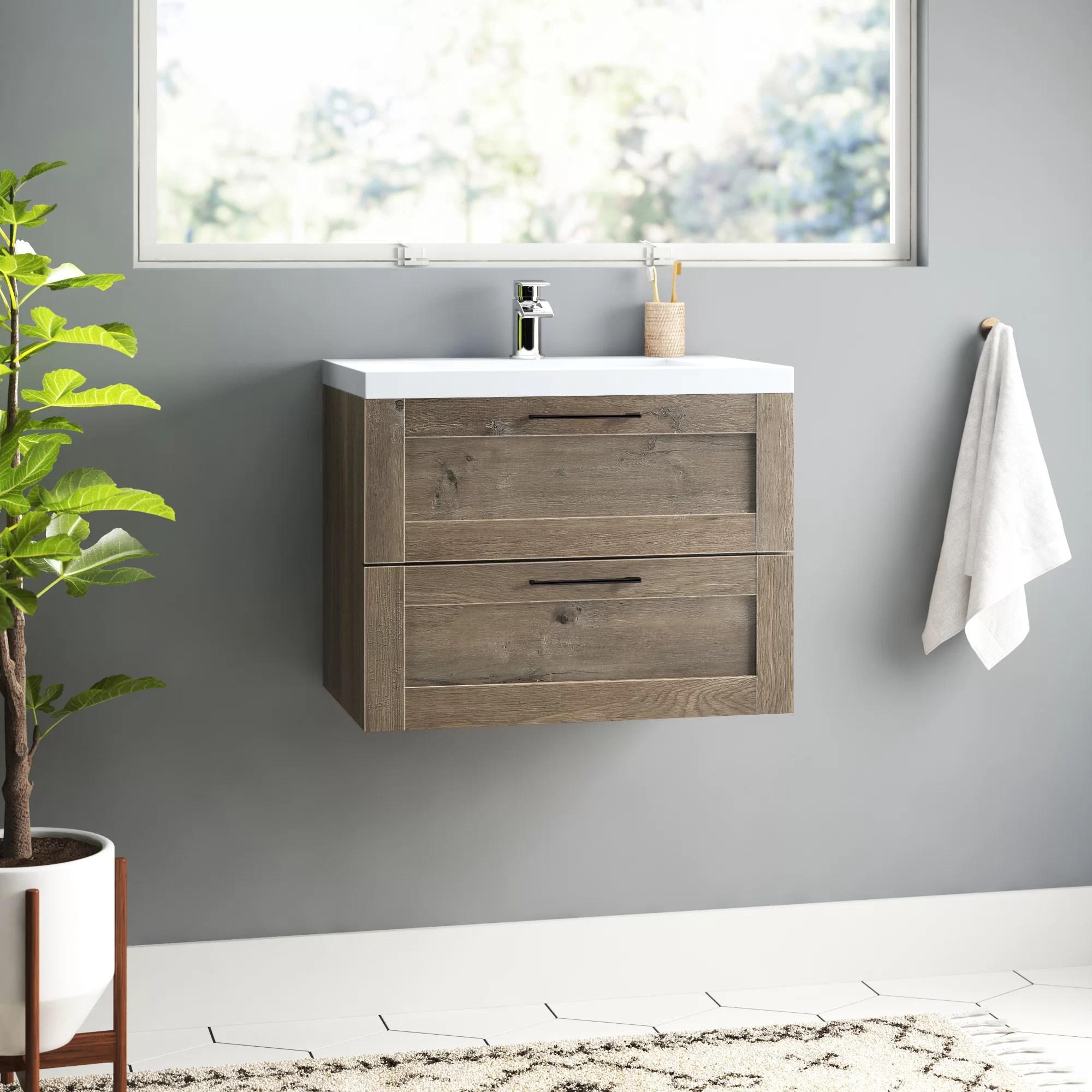 Lelana 30 Single Bathroom Vanity Set Reviews Allmodern