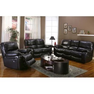leather chair ottoman set best office chairs under 200 and sets wayfair carraton reclining configurable living room