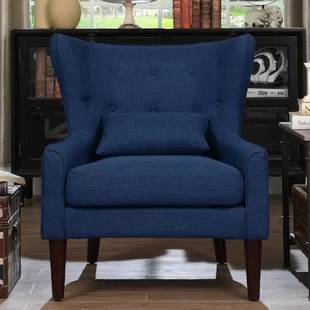 blue chair living room ideas for black leather couches accent chairs you ll love wayfair quickview