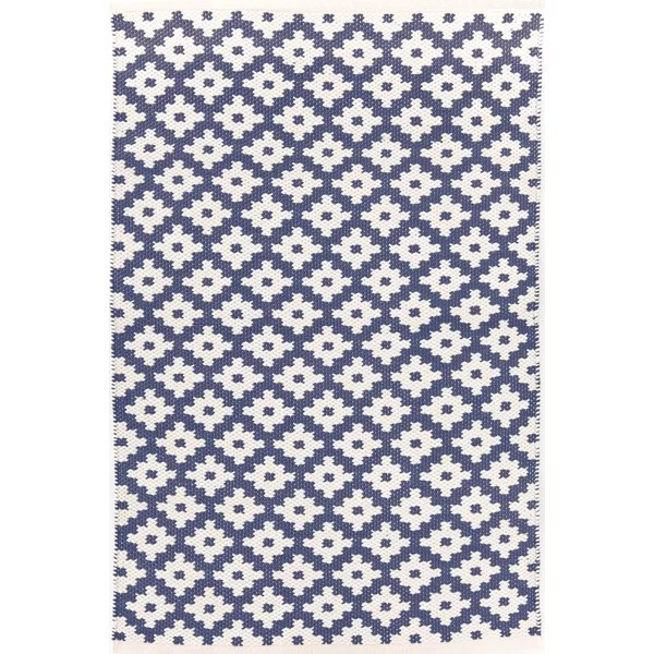 Wayfair Outdoor Teppich Dash And Albert Rugs Samode H Woven Blue Indooroutdoor