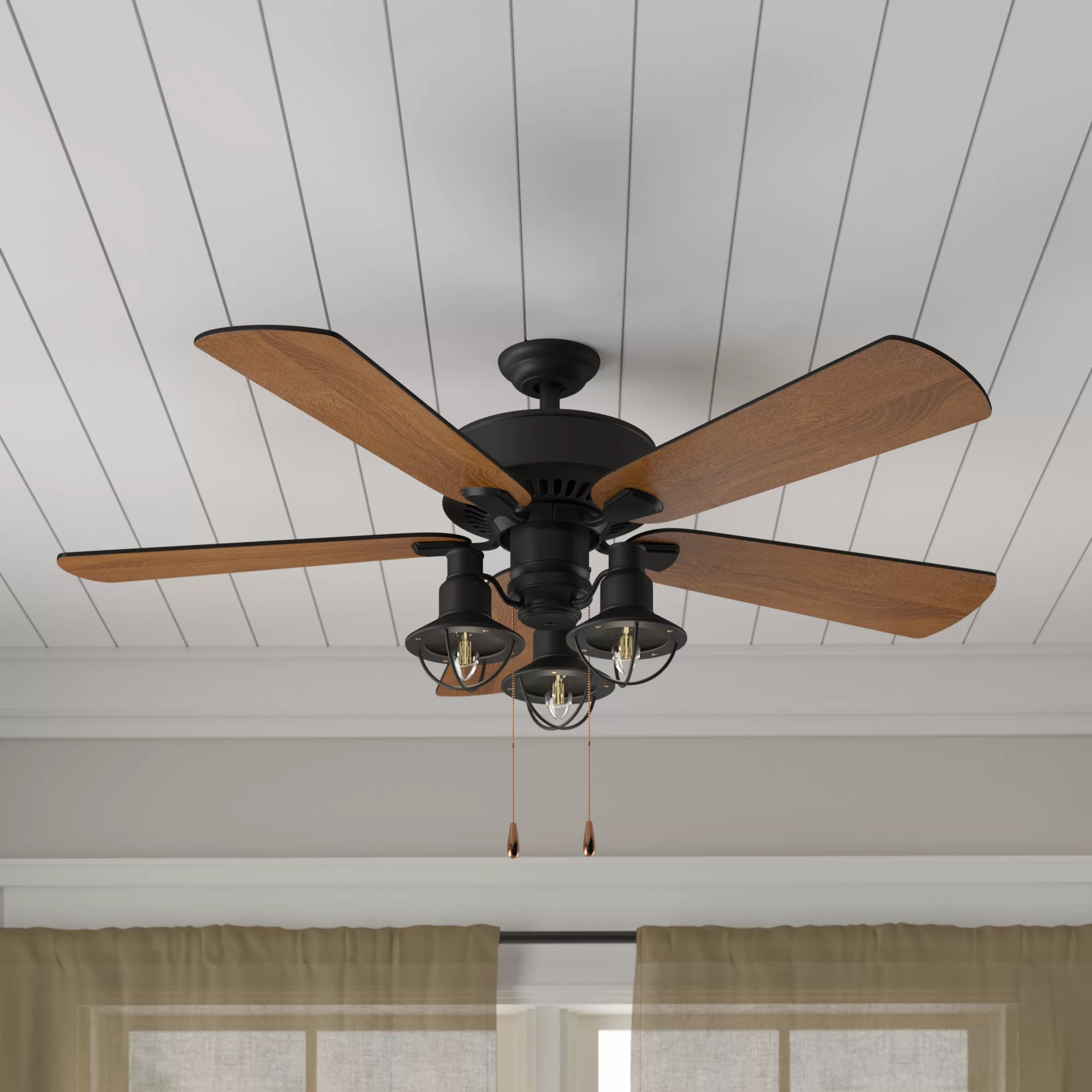 hight resolution of birch lane heritage 52 ravello 5 blade led ceiling fan light kit included reviews birch lane