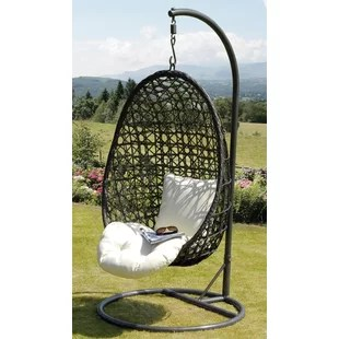 hanging chairs indoor uk church chair accessories you ll love wayfair co cocoon with stand