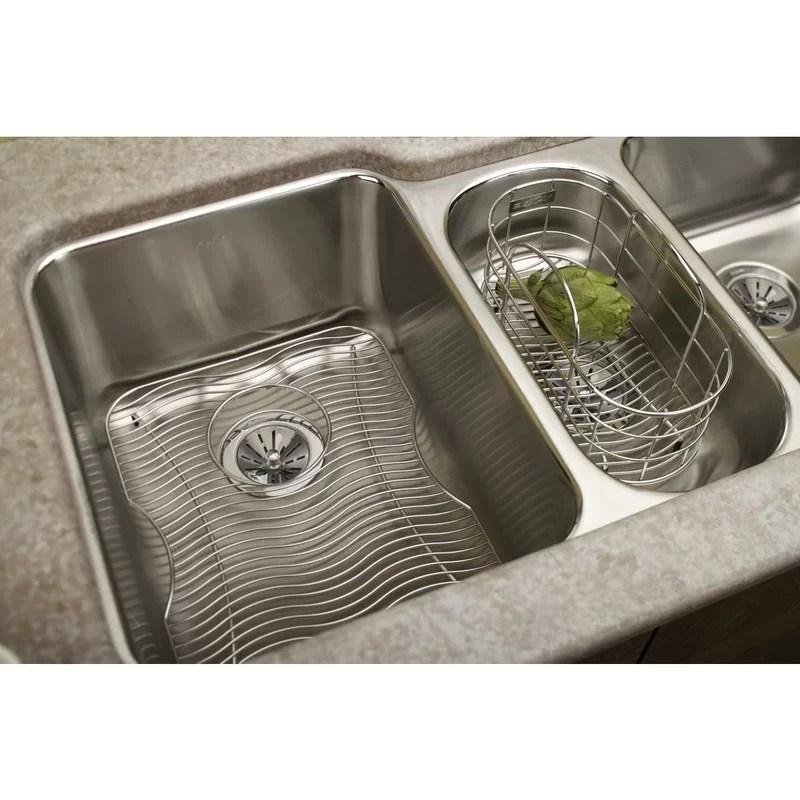 kitchen sink rack brass hardware elkay 17 x 13 grid wayfair