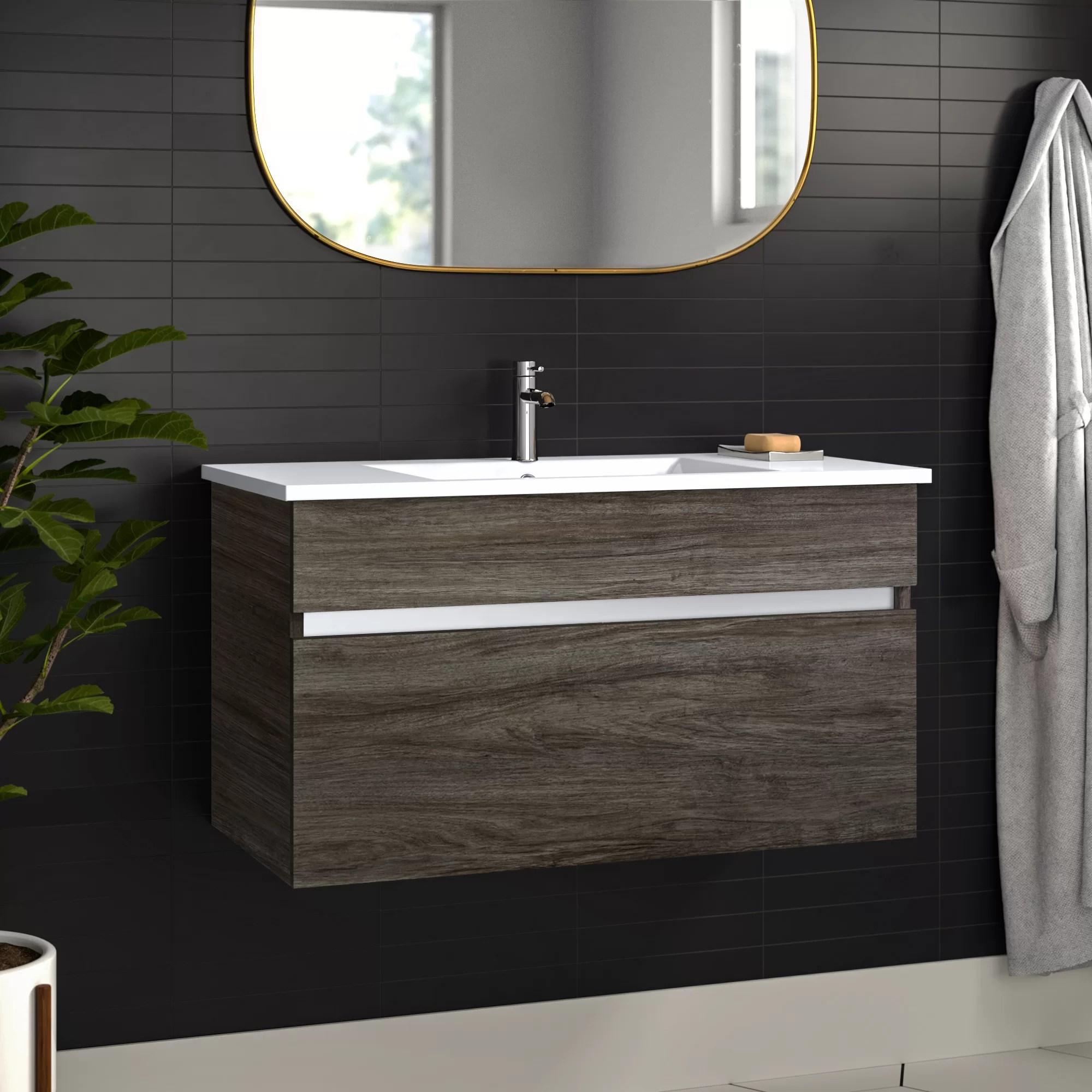 Ivory Floating 36 Single Bathroom Vanity Set Allmodern