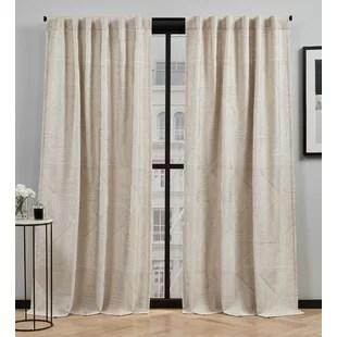 mudd geometric semi sheer rod pocket curtain panels set of 2