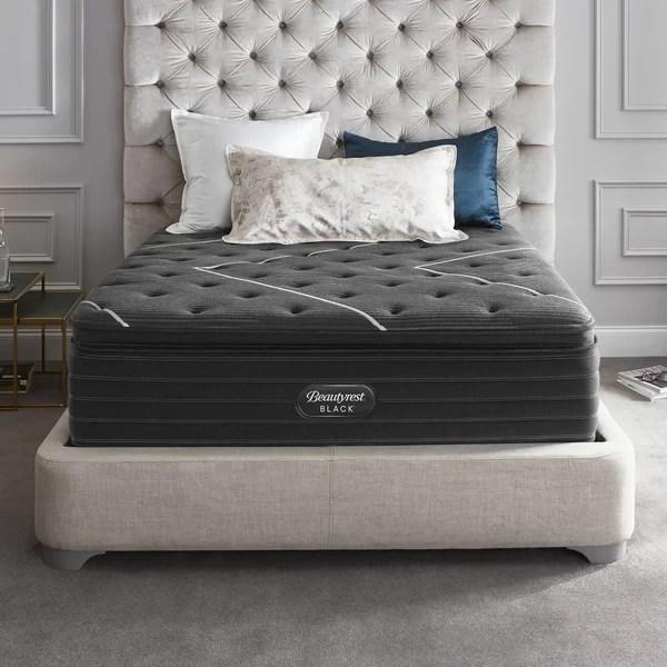 beautyrest black 16 plush pillow top mattress and box spring