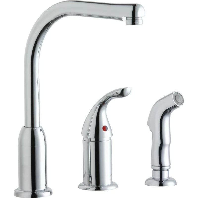 everyday pull down single handle kitchen faucet with side spray