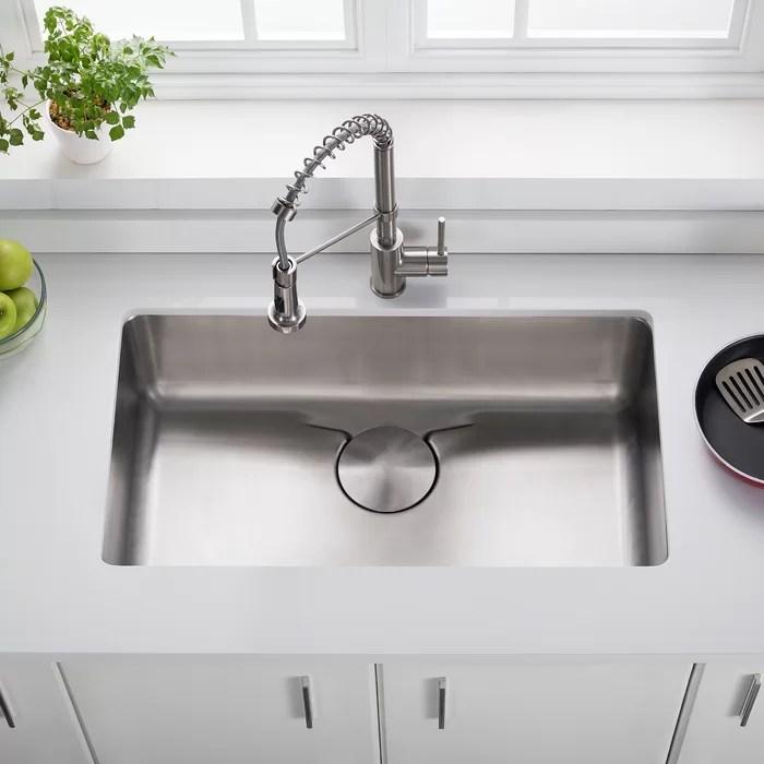 kraus kitchen sinks prefab outdoor cabinets dex series 33 x 19 undermount sink reviews wayfair ca