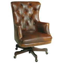 Wood And Leather Executive Office Chairs Chair Design Render Desk Perigold Parthenon Genuine