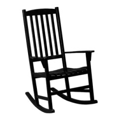 Black Rocking Chair French Country Accent Chairs Outdoor Wayfair Jamerson Porch Rocker