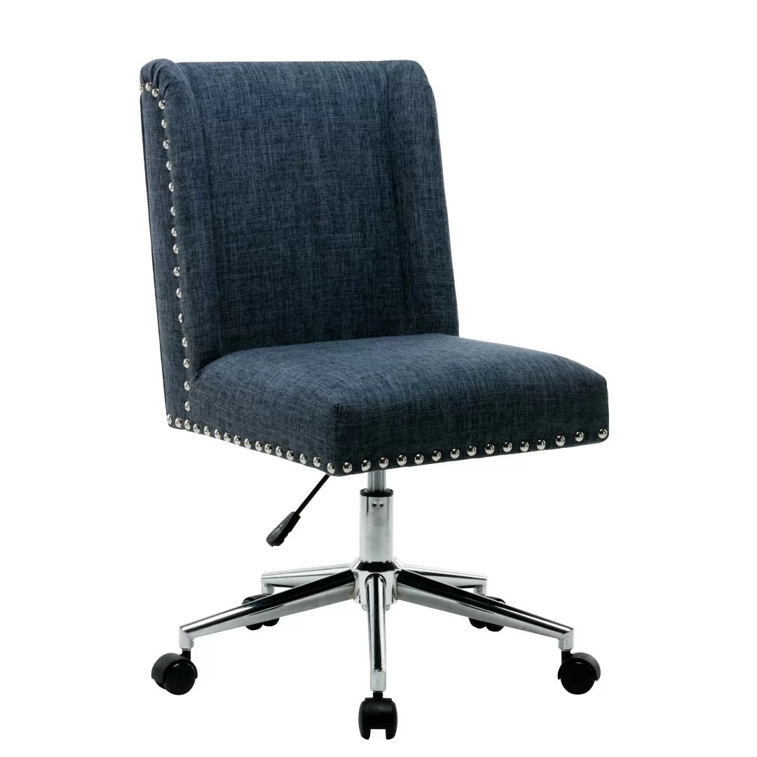 swivel office chair with wheels grey tufted dining chairs canada studded wayfair quickview