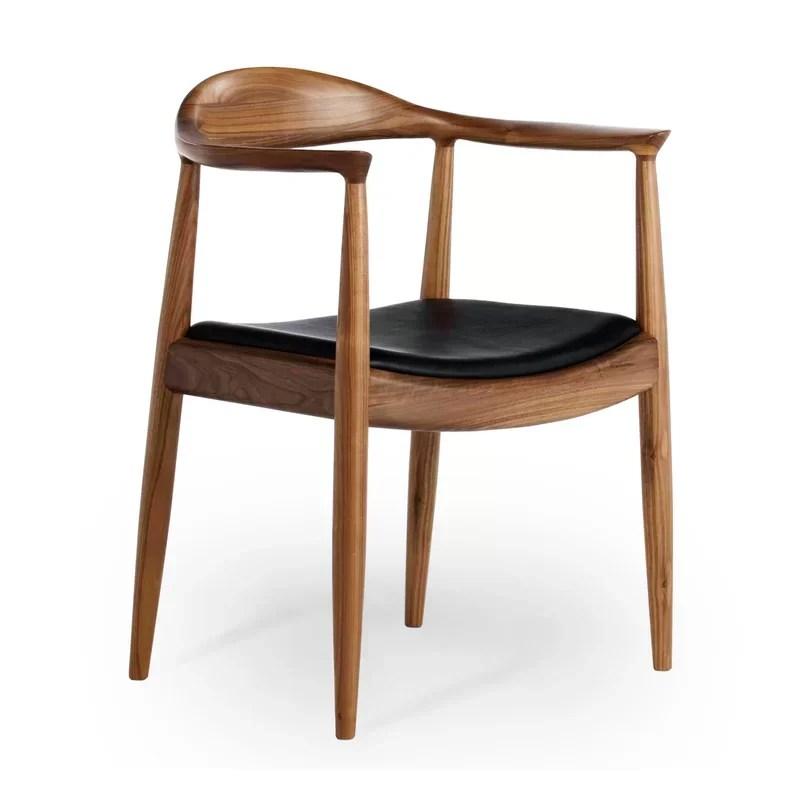 upholstered arm dining chair swivel wicker patio chairs corrigan studio chancy wayfair