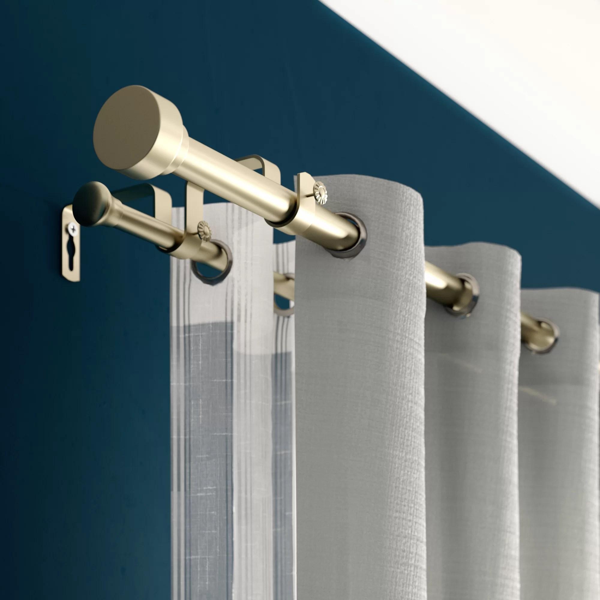 new hartford double curtain rod