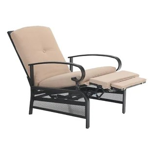 rowles recliner patio lounge chair with cushions