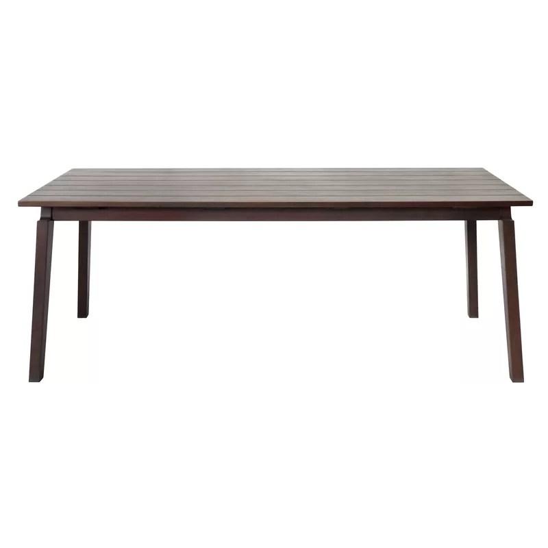 aviva solid wood patio table