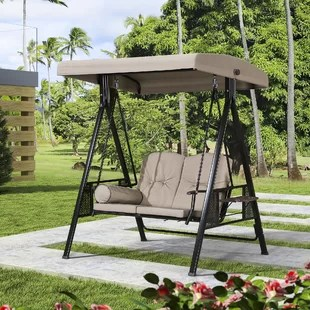 musa outdoor porch swing with stand